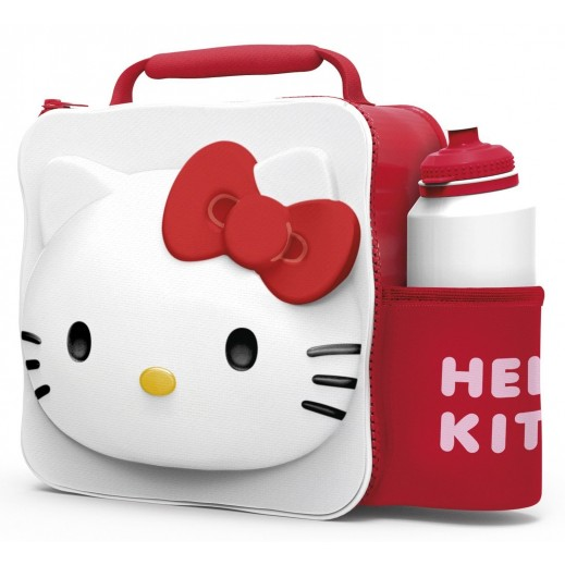 Hello Kitty 3D Lunch Bag with Bottle 500 ml