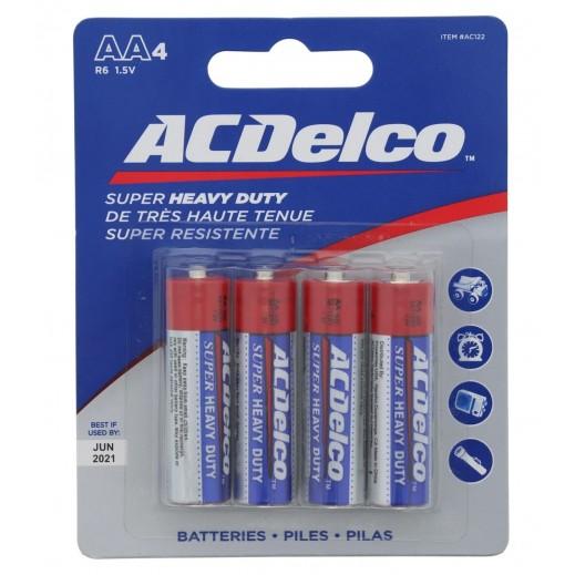 ACDelco Heavy Duty AA 1.5V Battery Pack 4 PCS