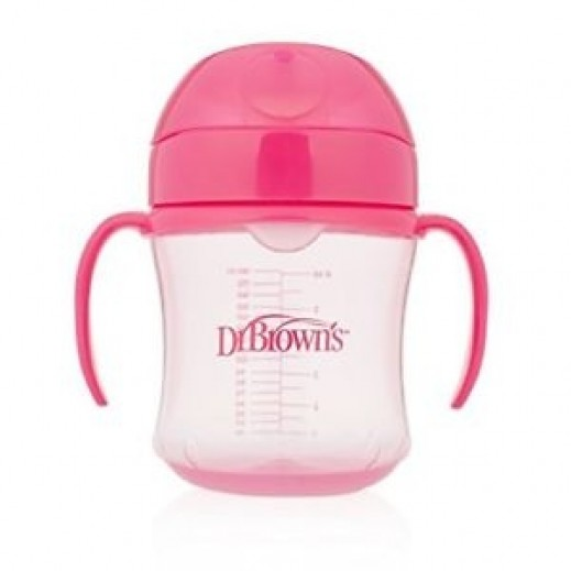 Dr.Brown Soft Spout Transition Cup 6+ Months 180 ml Pink