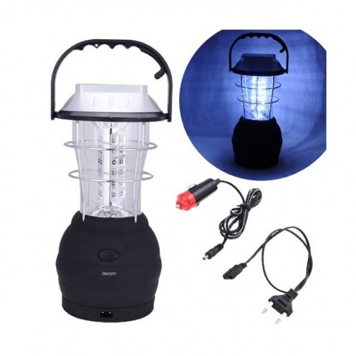 Super Bright Hand Crank Solar 36 LED Lantern with Mobile Charger Kit