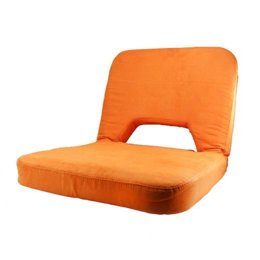 Extremely Comfortable Foldable Chair in Different Angles with Built in Handle-Orange
