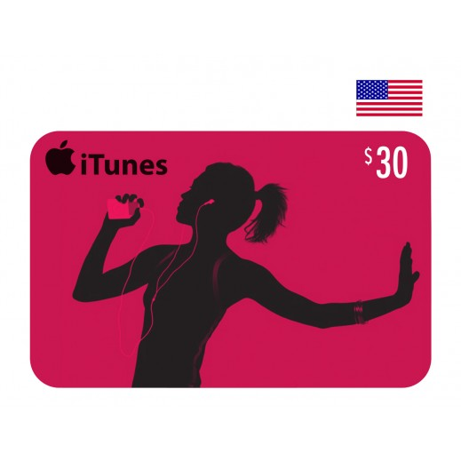 $30 Apple iTunes Card US - Delivery by E-mail