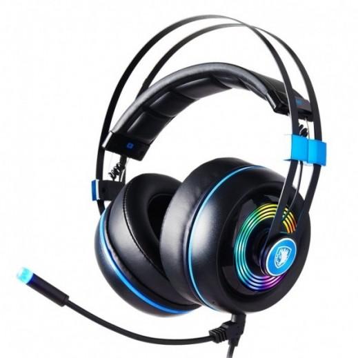 GAMING HEADSET SADES ARMOR REALTEC RGB PROFISSIONAL- Black & Blue