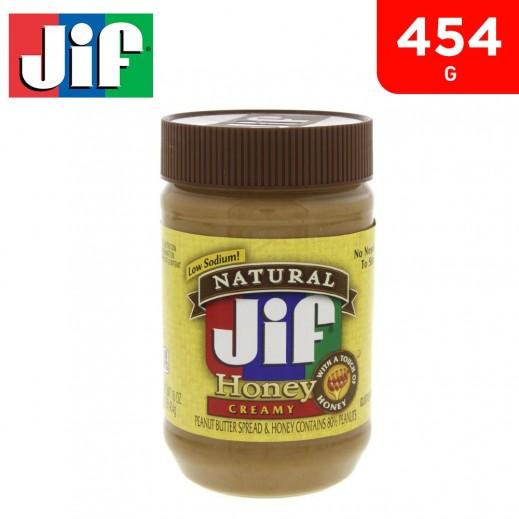 Jif Natural Honey Creamy Peanut Butter Spread 454 g