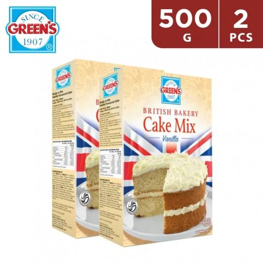 Greens British Bakery Vanilla Cake Mix 2 x 500 g