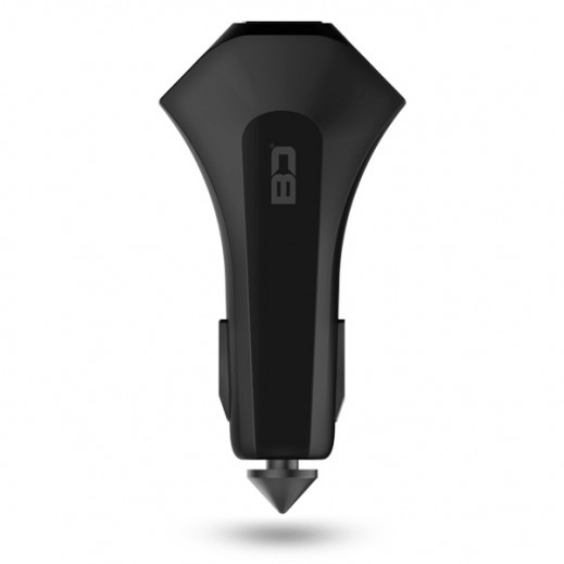 BD Smart 3 USB Car Charger with iPark - Black