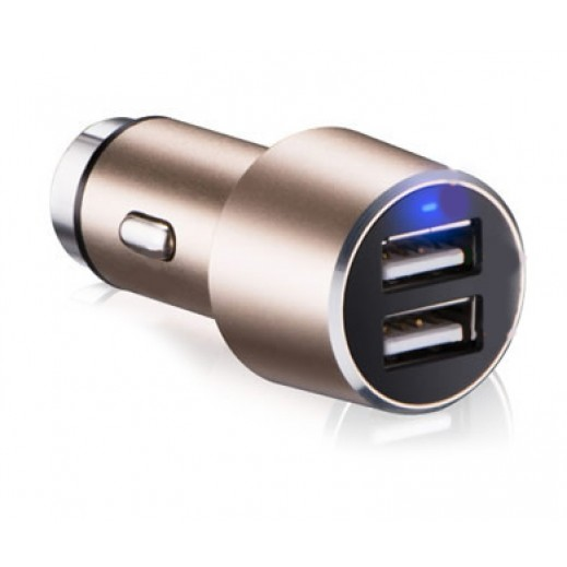 Dausen Aluminium Car Charger Gold