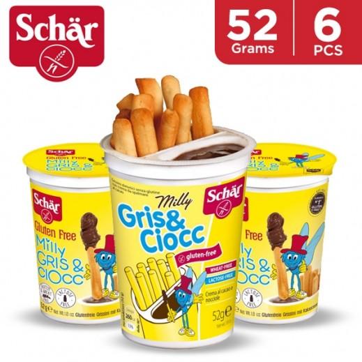 Schar Gluten Free Milly Gris & Ciocc Bread Stick 6 x 52 g