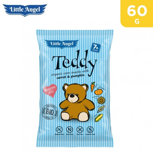 Little Angel Teddy Organic Carrot & Pumpkin Snacks 60 g