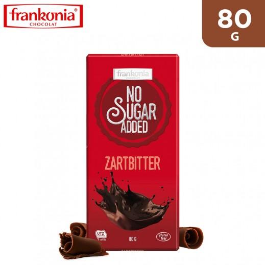 Frankonia Gluten Free No Sugar Added Dark Chocolate 80 g
