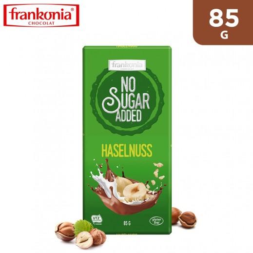Frankonia Gluten Free No Sugar Added Hazelnut Milk Chocolate 85 g