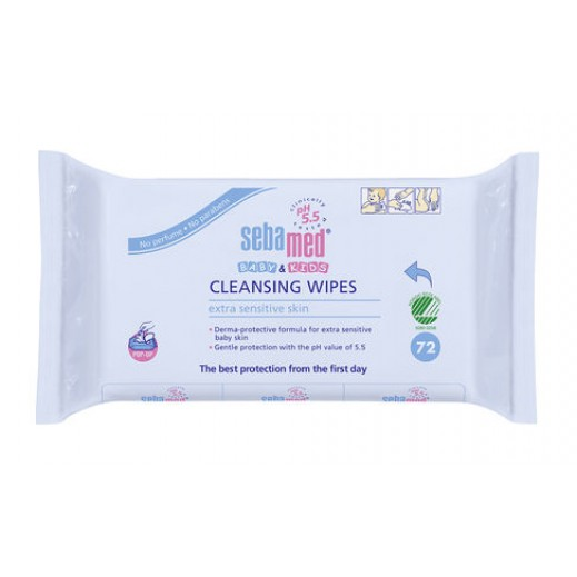 Sebamed Baby & Kids Cleansing Extra Sensitive Wipes 72 Pieces