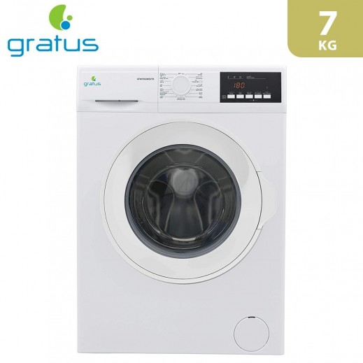Gratus Front Load Washer 7Kg - Silver - delivered by Smart Stores