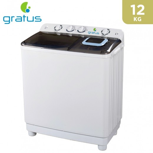 Gratus 12Kg Twin Tub Washer - White - delivered by Smart Stores