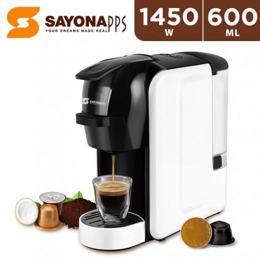 Sayona 1450W Multi Capsule Coffee Machine 600ml - Black & White