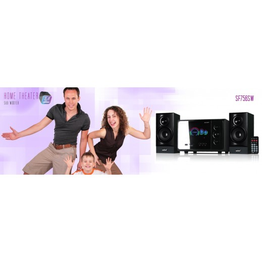 Sanford 2.1 Ch USB-SD Card Speaker 6000W PMPO Home Theater - SF7565W