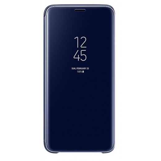 Samsung Galaxy S9 Clear View Standing Cover - Blue
