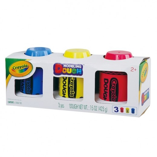 A1 Toys Crayola 3 Pack 5 Ounce Modeling Dough