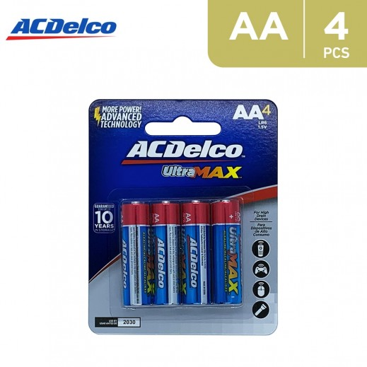 AC Delco ULTRA-MAX Alkaline AA Batteries  - 4 Pieces