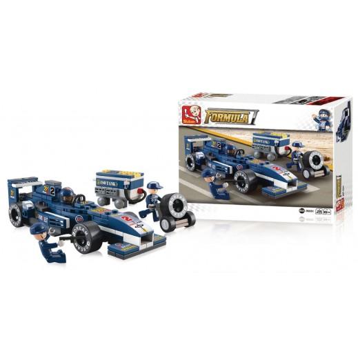 Sluban Formula1 Building Racing Car Blocks Set F2 196 Blocks