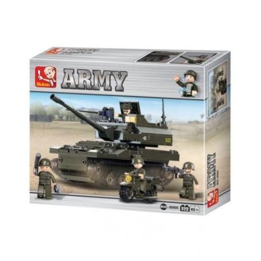 Sluban UK Military Battle tank Building Bricks 343 Blocks
