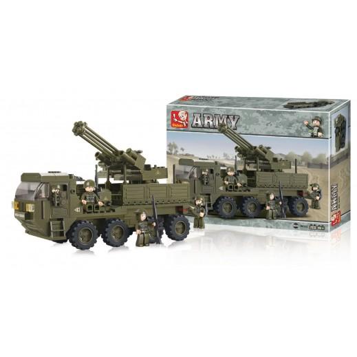 Sluban Building Blocks Army Serie Heavy Equipment Transporter 306 Blocks