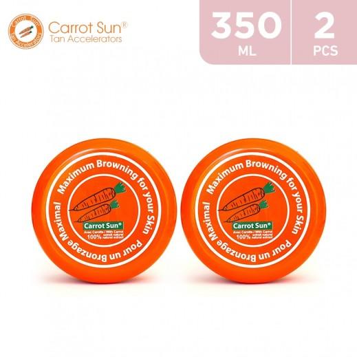 Carrot Sun Tanning Cream 2 × 350 ml