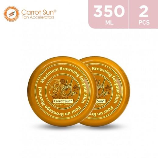 Carrot Sun Tanning Cream Gold 2 × 350 ml