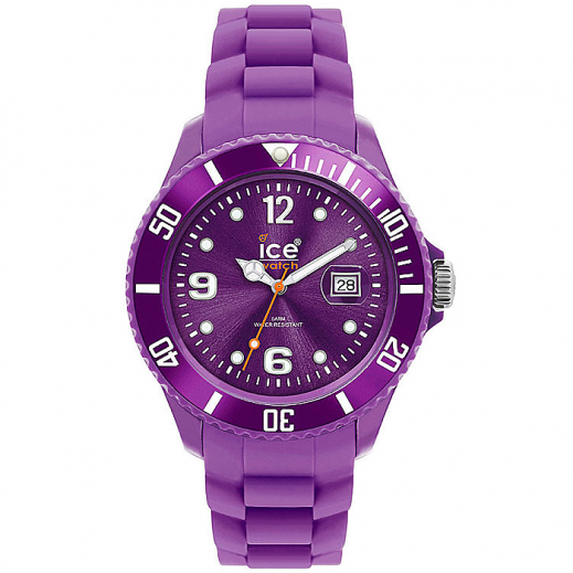 Ice Watch Unisex Sili Winter Analog Purple Silicone Strap Watch