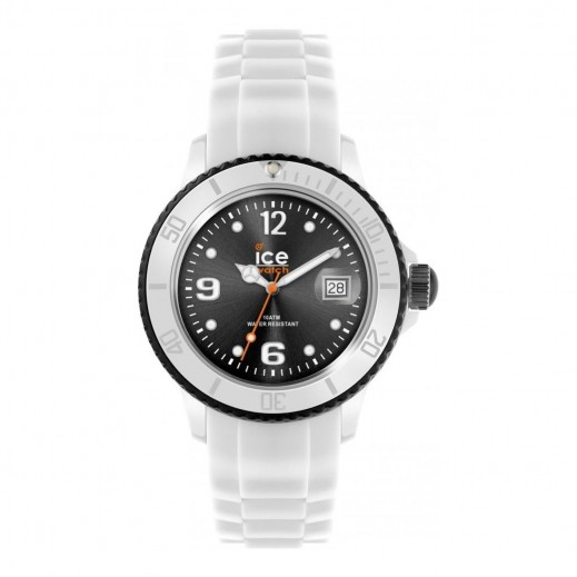 Ice Watch Unisex Sili Analog White Silicone Strap Watch