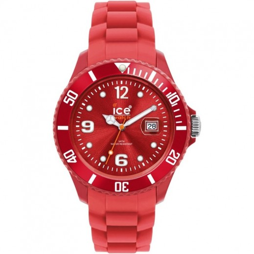 Ice Watch Unisex Sili Winter Analog Red Silicone Strap Watch