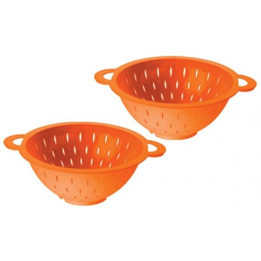 Side Handle Collander (Assorted Colors) - 2 Pieces Set