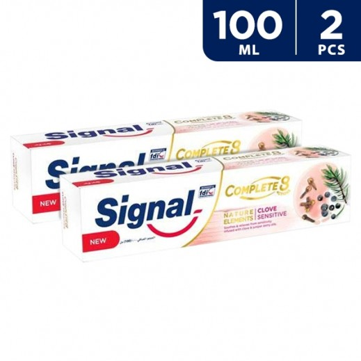Signal Complete 8 Clove Sensitive Toothpaste 2 x 100 ml