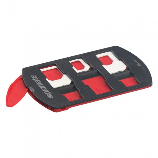 Promate 6 in 1 SIM Card Holder + 3 SIM Card Converters + SIM Tray Remover Container