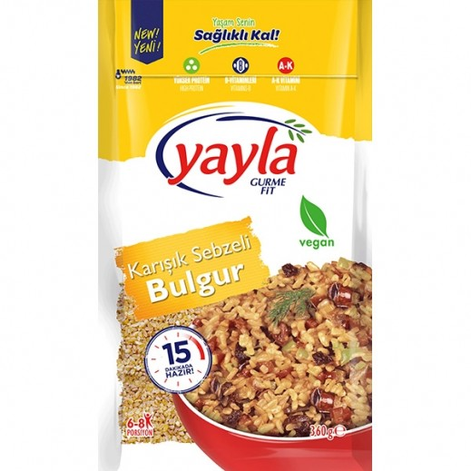 Yayla Gurme Fit Vegetable Mix With Bulghur 360 g