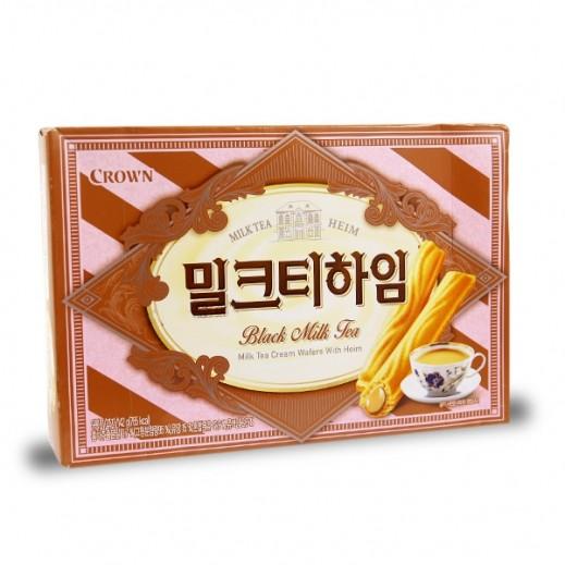 Crown Milk Tea Cream Wafer 142 g