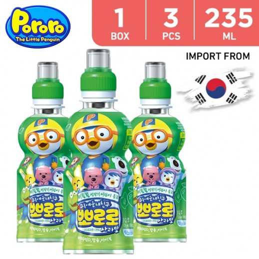 Paldo Pororo Apple Flavor 3 x 235 ml