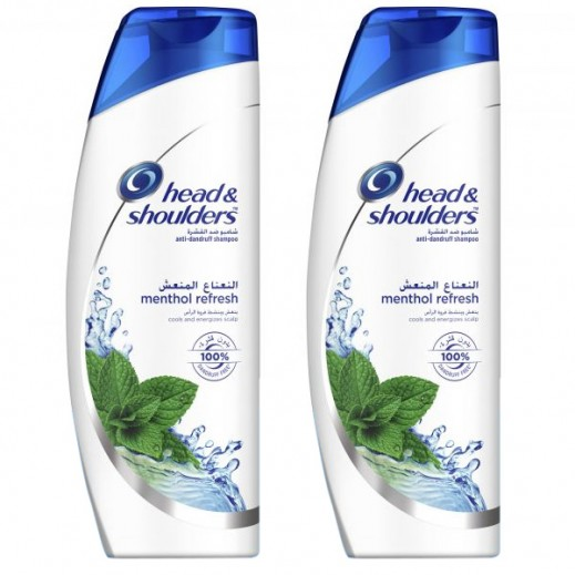 Head & Shoulders Menthol Shampoo 2 X 400 ml 25% Off Prom