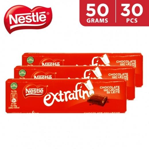 Nestle Extrafino Milk Chocolate 30 x 50 g
