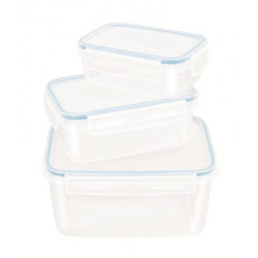 Komax Snappy Plastic Container Set - 3 Pieces