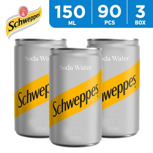 Wholesale - Schweppes Soda Water Can 150 ml (3x30 pieces)
