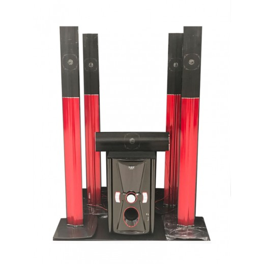 NHE Speaker Bluetooth Home Theater System 6000 W - Red & Black