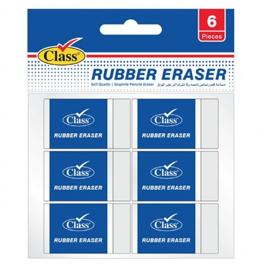 Class Medium Rubber 8 White Set