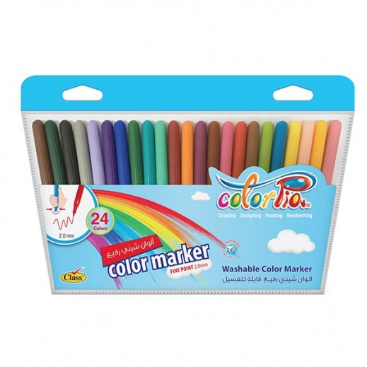 Colorpia Rainbow 24 Shiny Colors Thin
