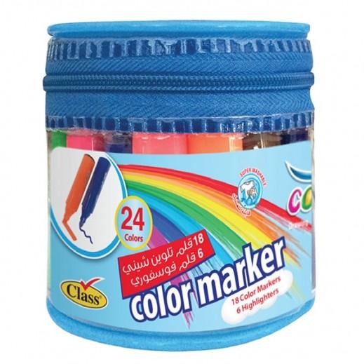 Colorpia Round Case 18+6Shiny Colors