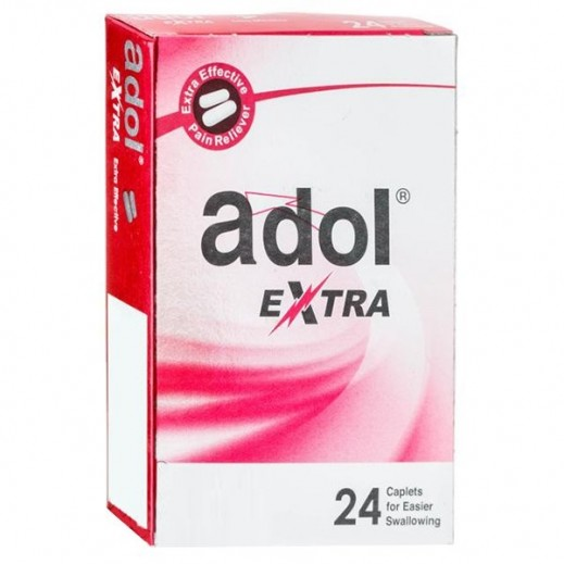 Adol Extra Pain Reliever 24 Caplets