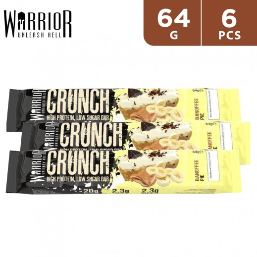 Warrior Crunch Protein Banoffee Pie Bar 6 x 64 g