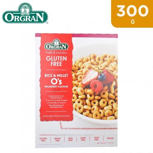 Orgran Gluten Free Rice Millet O's Wildberry Flavour 300 g