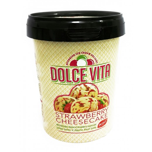 KDD Dolce Vita Strawberry CheeseCake ice Cream 500 ml