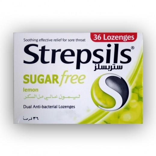 Strepsils Sugar Free Lemon Sore Throat Relief 36 Lozenges